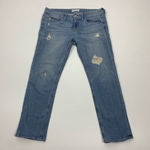 Express Modern Boyfriend Relaxed Distressed Jeans
